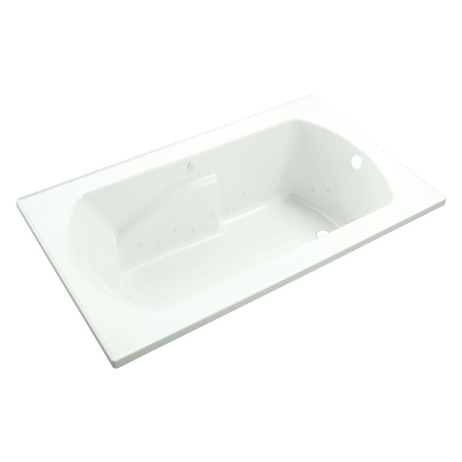 Sterling Lawson 36-in L x 60-in W x 20-in H White Vikrell Oval In Rectangle Drop-in Air bath