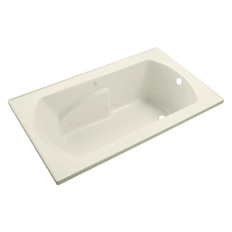 Sterling Lawson 36-in L x 60-in W x 20-in H Biscuit Vikrell 1-Person-Person Oval In Rectangle Drop-in Air Bath