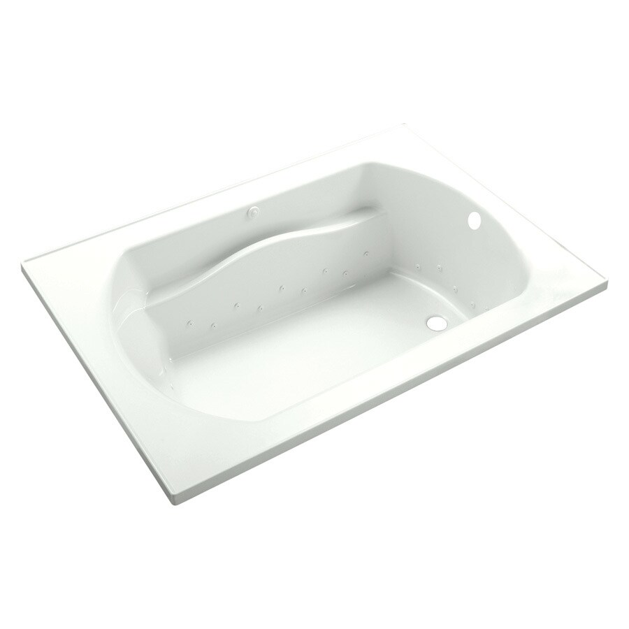 Sterling Lawson 60-in White Vikrell Drop-In Air Bath with Reversible Drain