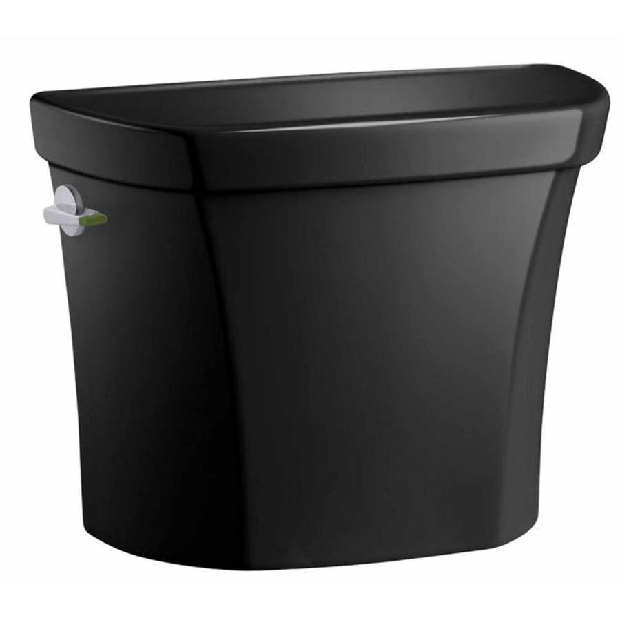 KOHLER Wellworth Black 1.6000-GPF Single-Flush High-Efficiency Toilet Tank
