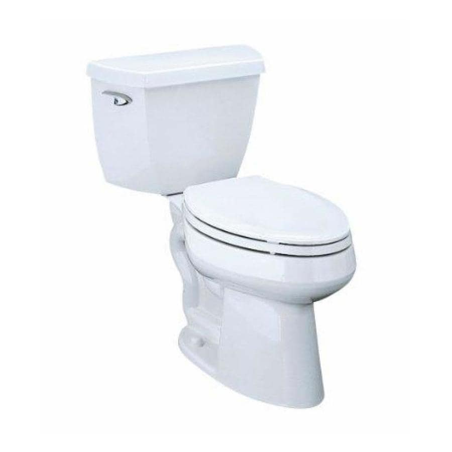 KOHLER Highline 1.28-GPF (4.85-LPF) White Elongated Chair Height 2-piece Toilet