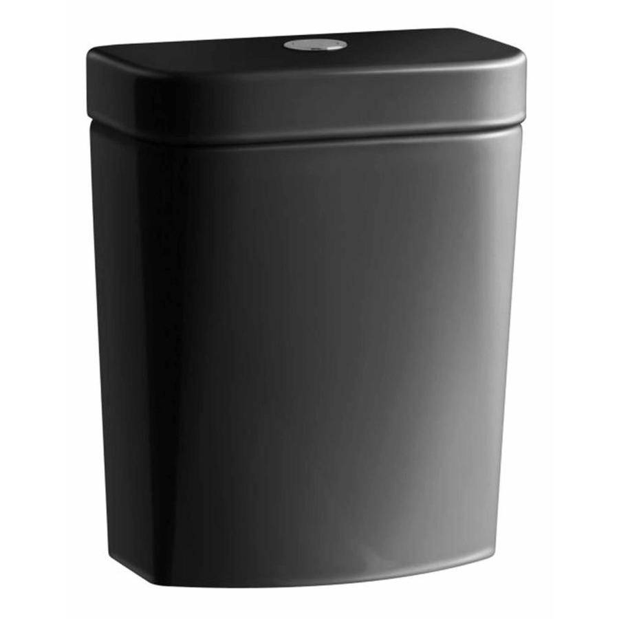 KOHLER Persuade Black Black 1.6-GPF Single-Flush High-Efficiency Toilet Tank