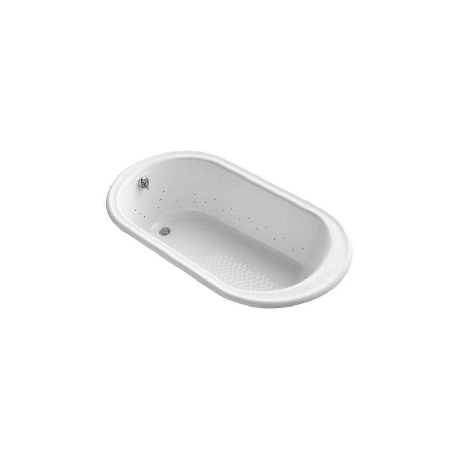 KOHLER Iron Works 66-in L x 36-in W x 19.25-in H White Cast Iron Oval Drop-in Air Bath