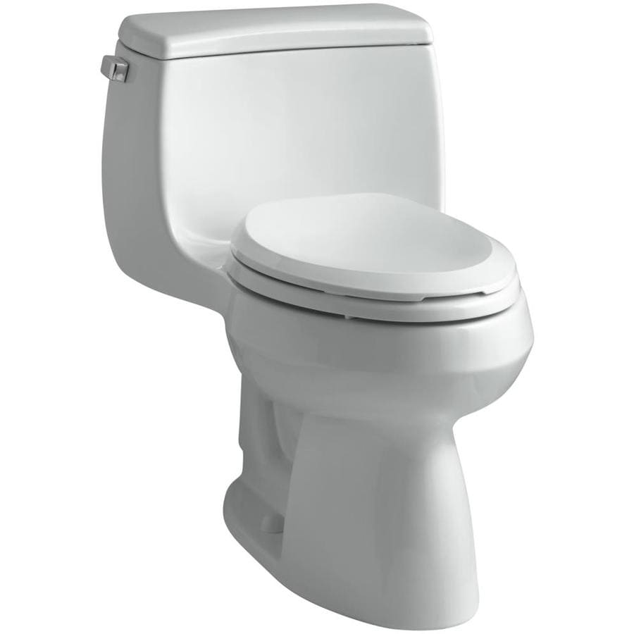 KOHLER Gabrielle Ice Grey 1.28-GPF (4.85-LPF) 12 Rough-In WaterSense Elongated 1-Piece Chair Height Toilet