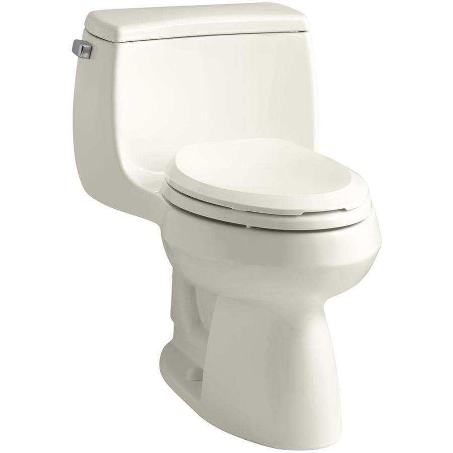 KOHLER Gabrielle 1.28-GPF (4.85-LPF) Biscuit WaterSense Elongated Chair Height 1-Piece Toilet