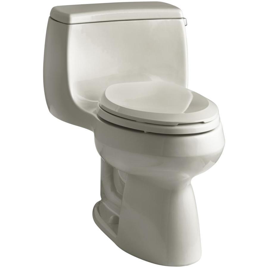 KOHLER Gabrielle 1.28-GPF (4.85-LPF) Sandbar WaterSense Elongated Chair Height 1-Piece Toilet