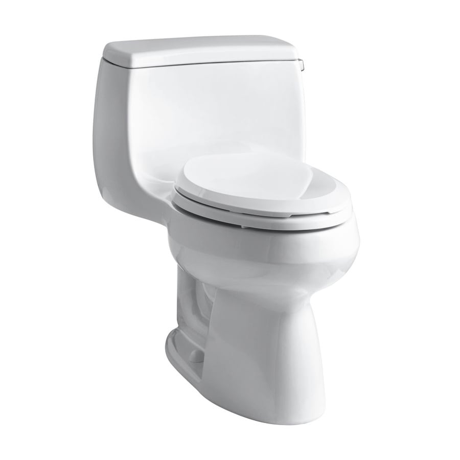 KOHLER Gabrielle White WaterSense Labeled  Elongated Chair Height 1-piece Toilet 12-in Rough-In Size