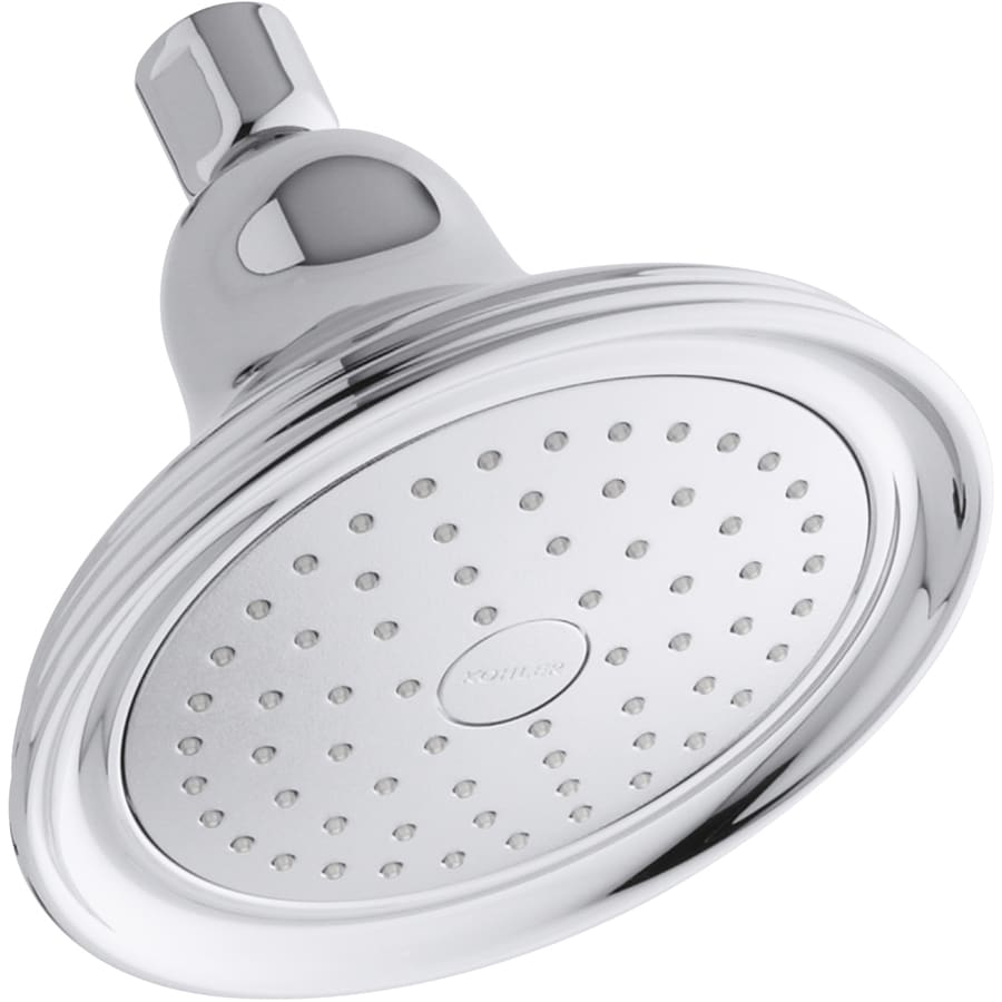 KOHLER Devonshire 5.9375-in 2.5-GPM (9.5-LPM) Polished Chrome 1-Spray Showerhead