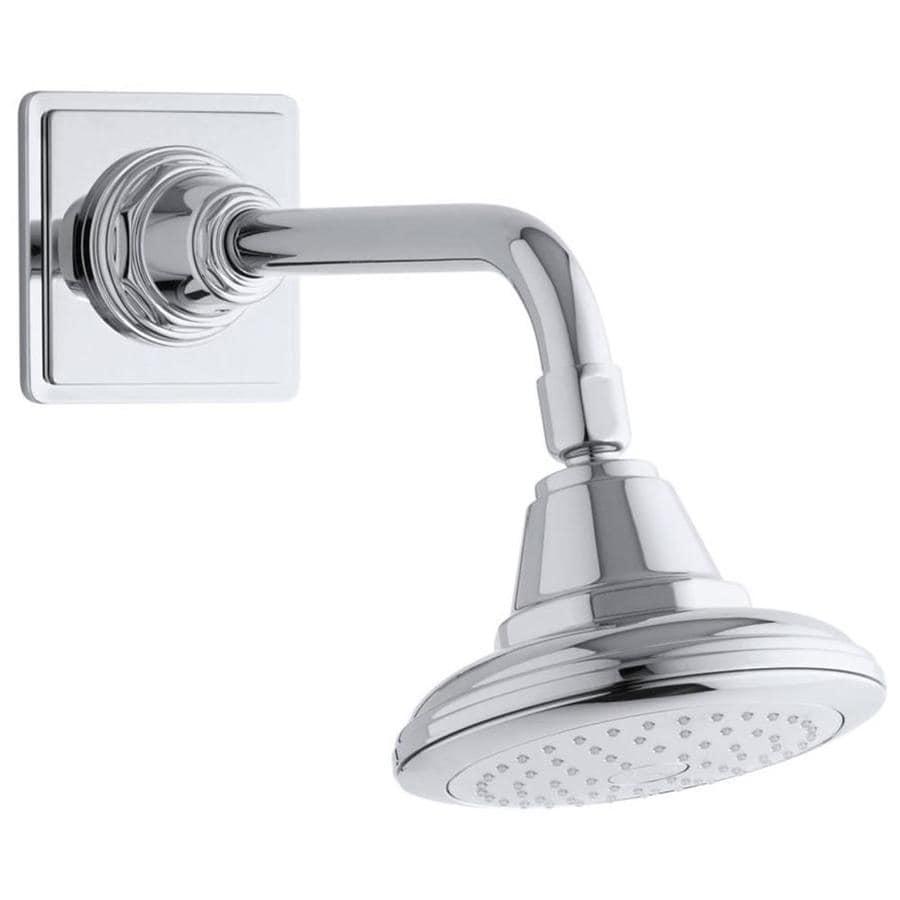 KOHLER Pinstripe 5.5625-in 2.5-GPM (9.5-LPM) Polished Chrome 1-Spray Showerhead