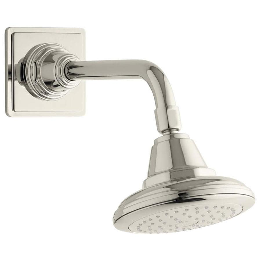 KOHLER Pinstripe 5.5625-in 2.5-GPM (9.5-LPM) Vibrant Polished Nickel 1-Spray Showerhead