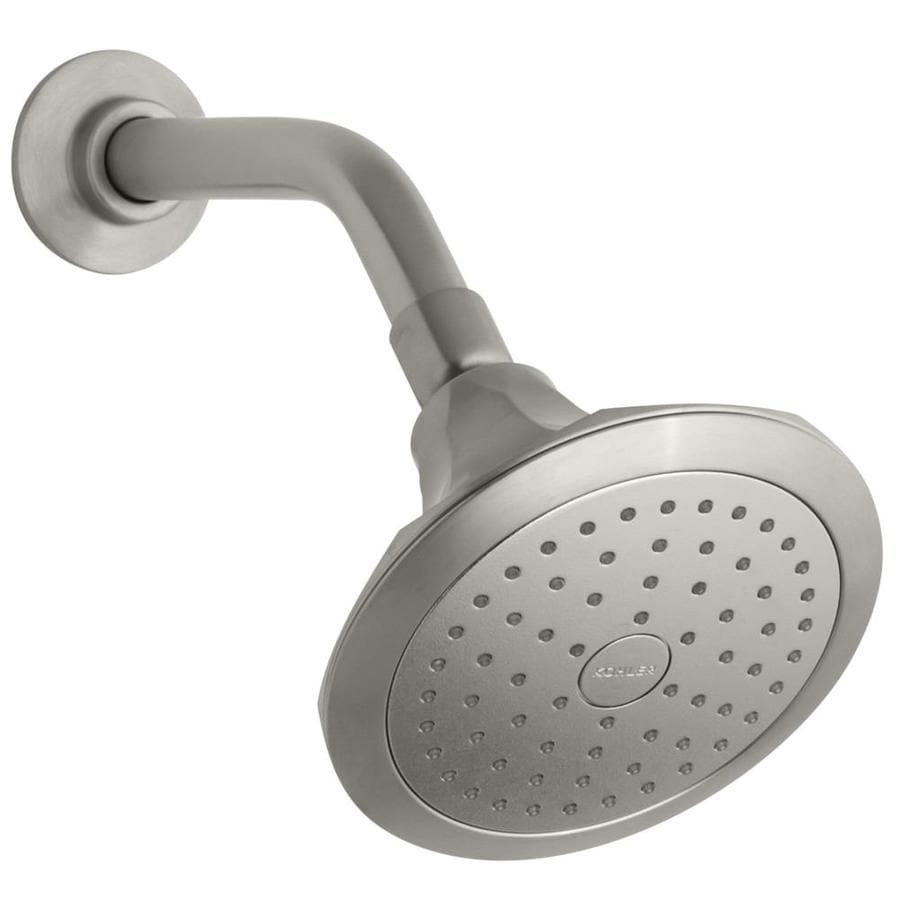 KOHLER Memoirs 5.5-in 2.5-GPM (9.5-LPM) Vibrant Brushed Nickel 1-Spray Showerhead