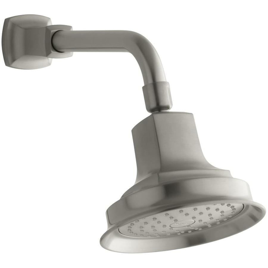 KOHLER Margaux 5.9375-in 2.5-GPM (9.5-LPM) Vibrant Brushed Nickel 1-Spray Showerhead