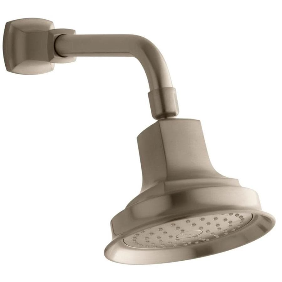 KOHLER Margaux 5.9375-in 2.5-GPM (9.5-LPM) Vibrant Brushed Bronze 1-Spray Showerhead