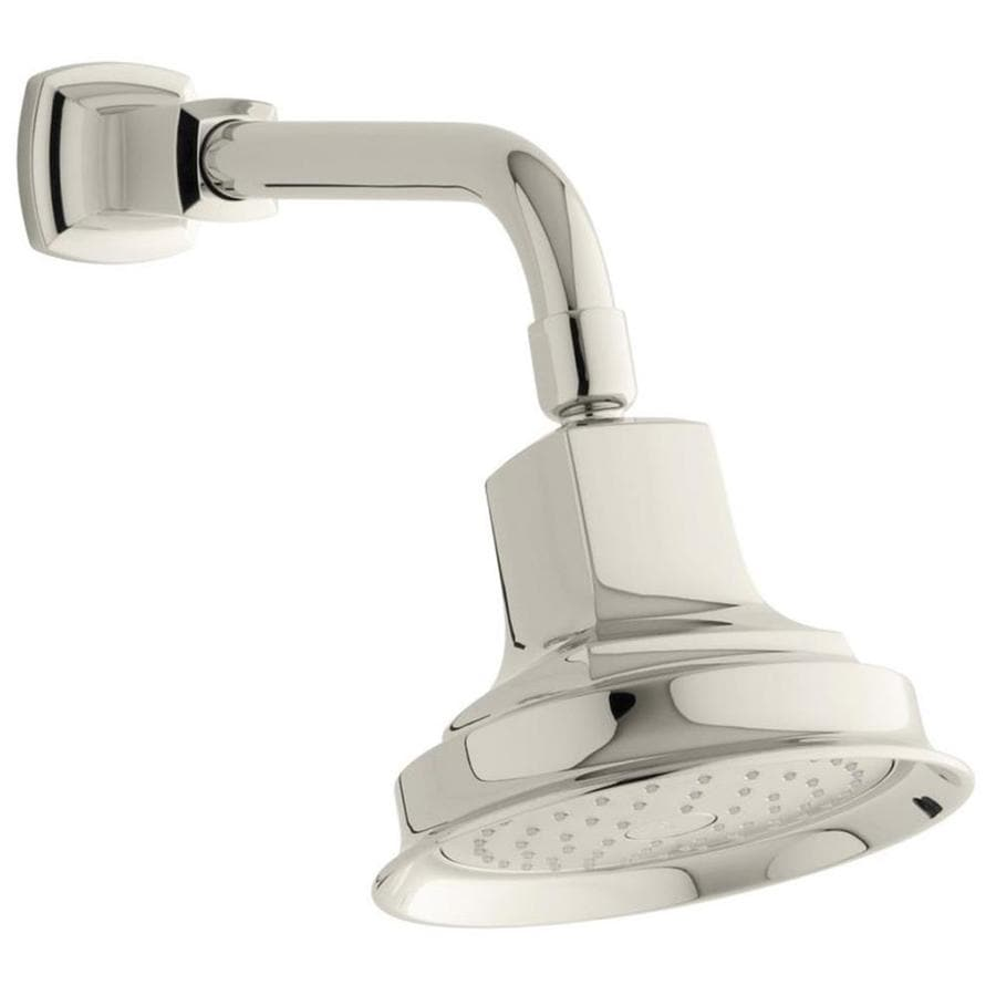 KOHLER Margaux 5.9375-in 2.5-GPM (9.5-LPM) Vibrant Polished Nickel 1-Spray Showerhead