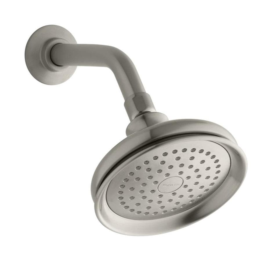 KOHLER Fairfax 5.5-in 2.5-GPM (9.5-LPM) Vibrant Brushed Nickel 1-Spray Showerhead