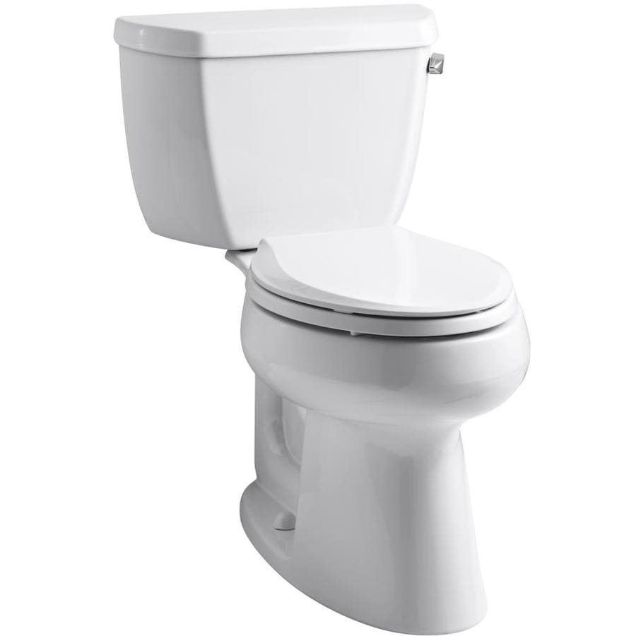 KOHLER Highline 1.28-GPF (4.85-LPF) White Elongated Comfort Height 2-piece Toilet