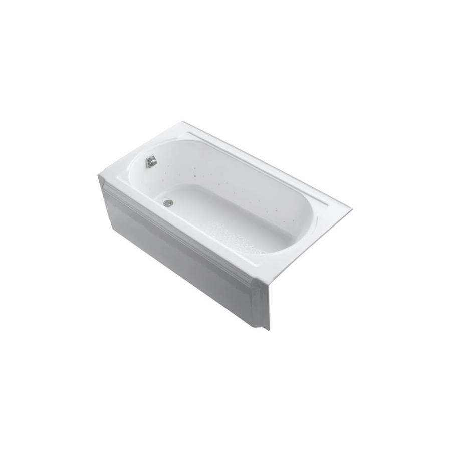 KOHLER Memoirs 60-in White Acrylic Alcove Air Bath with Left-Hand Drain