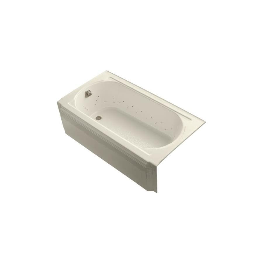 KOHLER Memoirs 60-in Almond Acrylic Alcove Air Bath with Left-Hand Drain