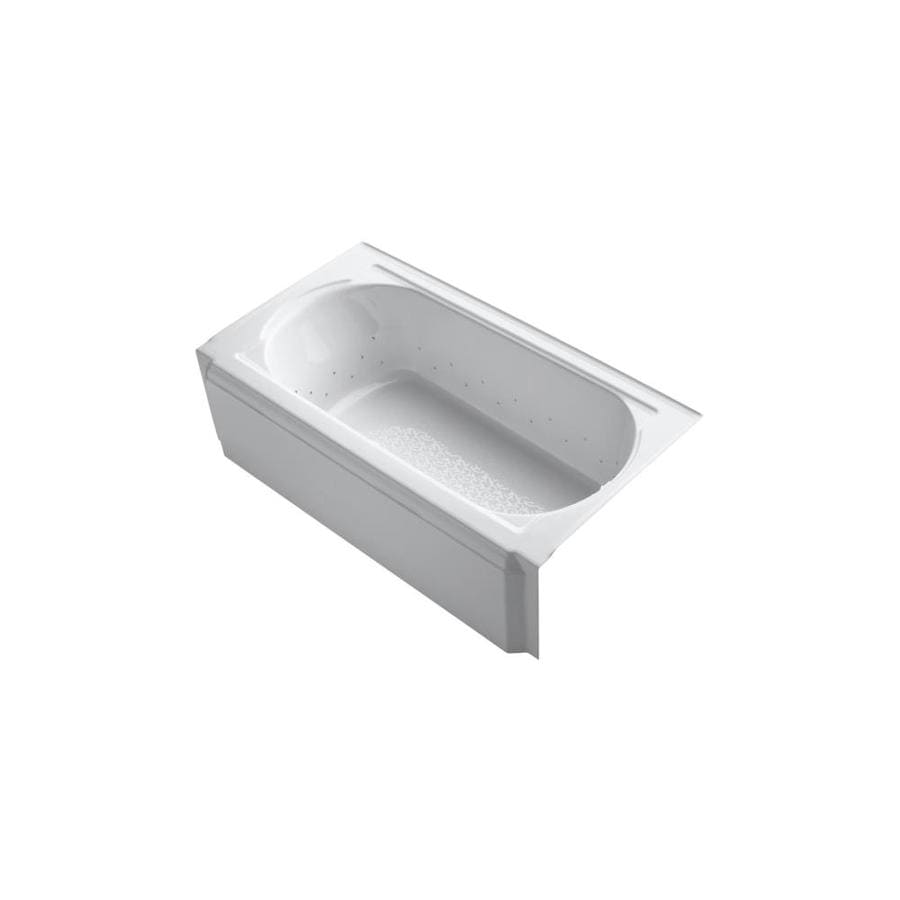 KOHLER Memoirs 60-in White Acrylic Alcove Air Bath with Right-Hand Drain