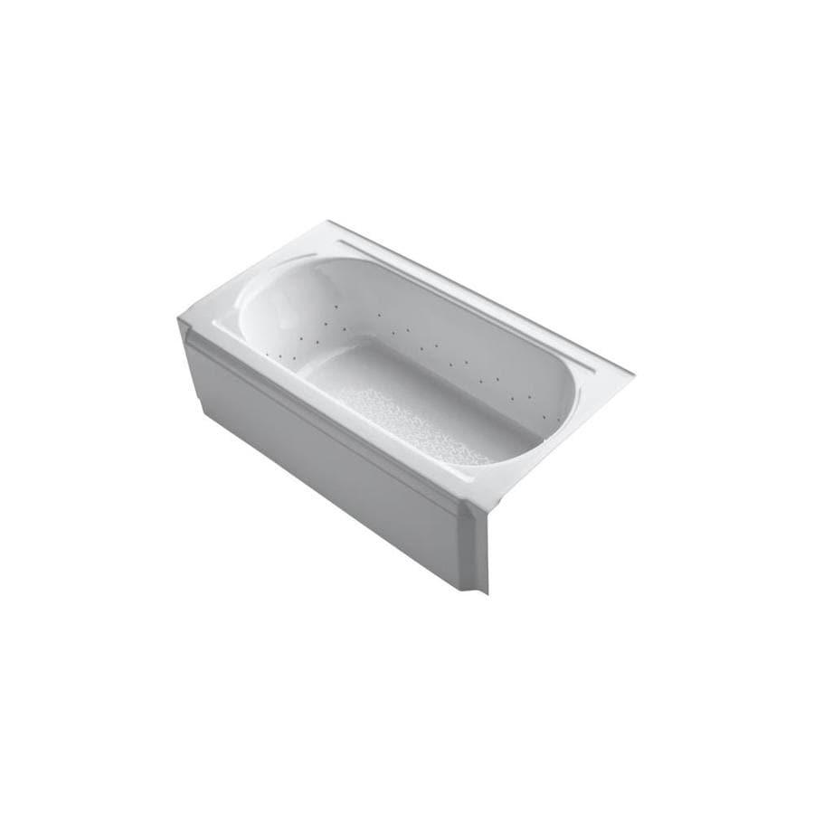 KOHLER Memoirs 60-in White Acrylic Alcove Air Bath with Right-Hand Drain
