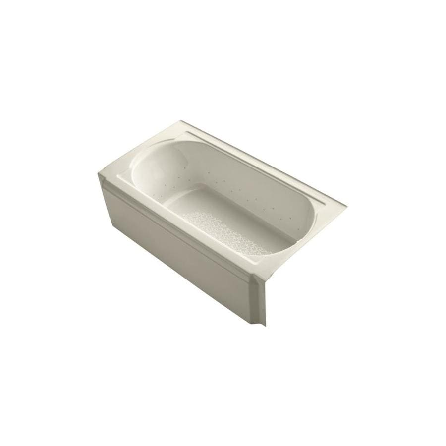 KOHLER Memoirs 60-in Almond Acrylic Alcove Air Bath with Right-Hand Drain