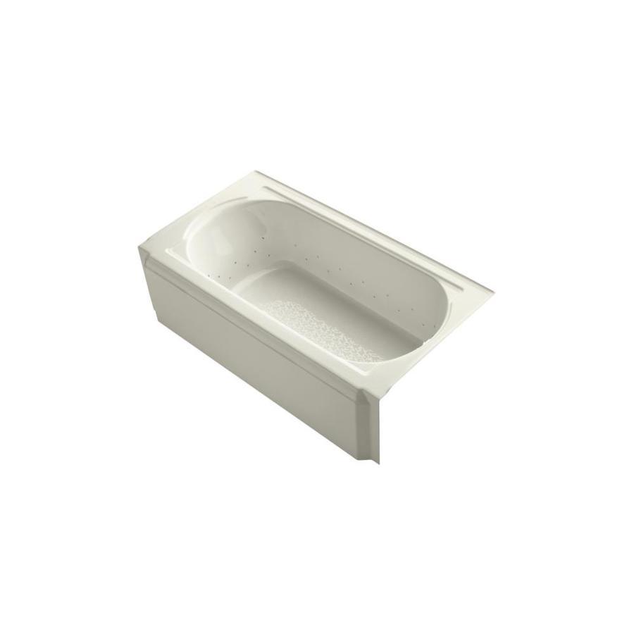 KOHLER Memoirs 60-in Sandbar Acrylic Alcove Air Bath with Right-Hand Drain