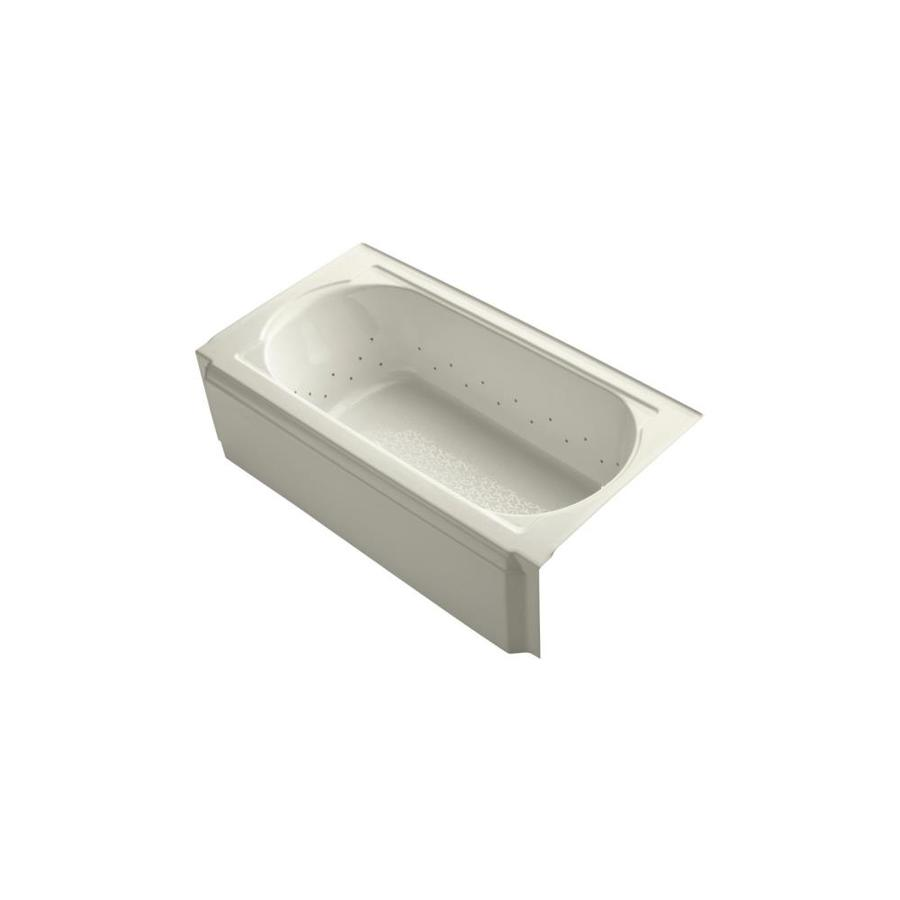 KOHLER Memoirs 60-in Sandbar Acrylic Alcove Air Bath with Right-Hand Drain