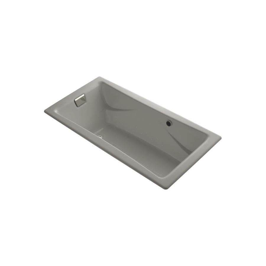 KOHLER Tea-for-Two 71.75-in L x 36-in W x 20.875-in H Cashmere Cast Iron 2-Person Rectangular Drop-In Air Bath