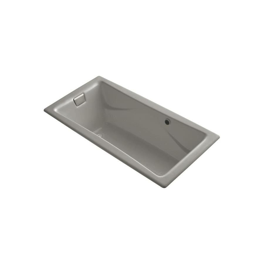 KOHLER Tea-for-Two 71.75-in L x 36-in W x 20.875-in H Cashmere Cast Iron 2-Person Rectangular Drop-In Air Bath