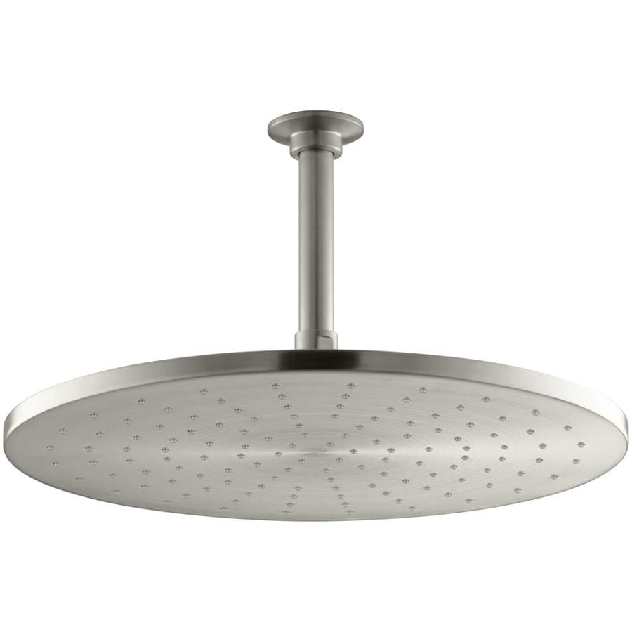 KOHLER Contemporary 14-in 2.5-GPM (9.5-LPM) Vibrant Brushed Nickel Rain Showerhead