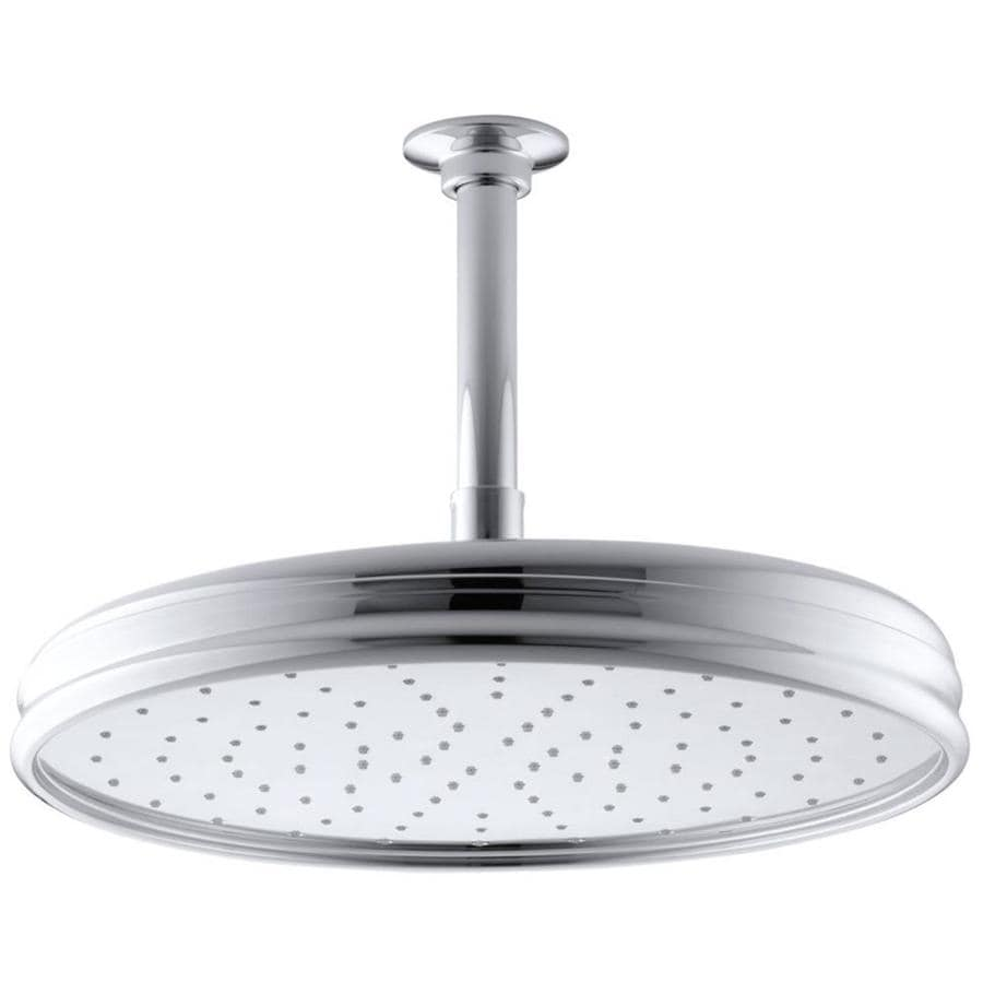 KOHLER Traditional 12.4375-in 2.5-GPM (9.5-LPM) Polished Chrome 1-Spray Rain Showerhead