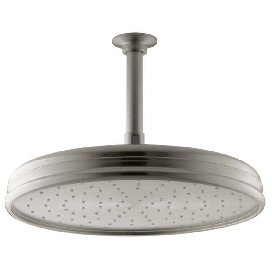 KOHLER Traditional Vibrant brushed Nickel 1-Spray Shower Head