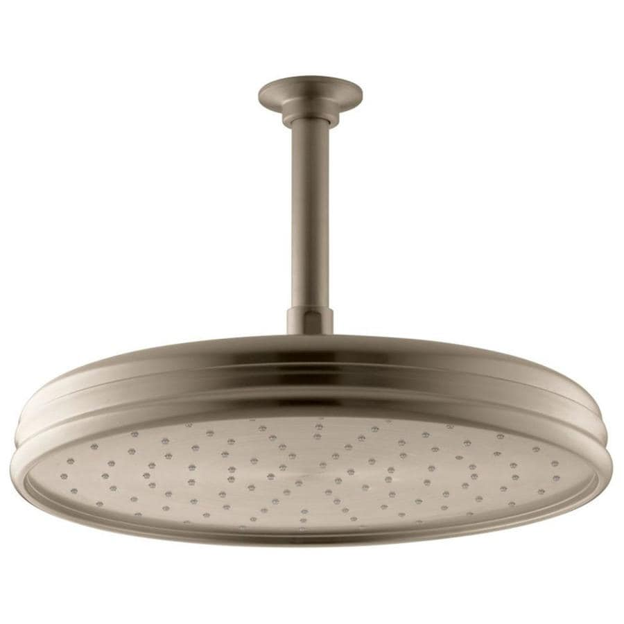 KOHLER Traditional 12.4375-in 2.5-GPM (9.5-LPM) Vibrant Brushed Bronze 1-Spray Rain Showerhead