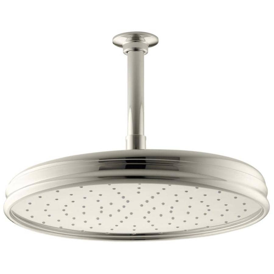 KOHLER Traditional 12.4375-in 2.5-GPM (9.5-LPM) Vibrant Polished Nickel 1-Spray Rain Showerhead