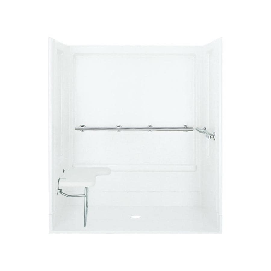 Sterling White 4-Piece Alcove Shower Kit (Common: 40-in x 63-in; Actual: 39.375-in x 63.25-in)