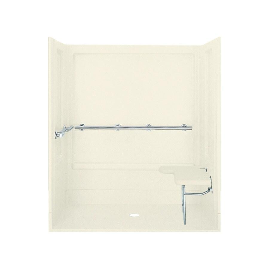 Sterling Biscuit Vikrell Wall and Floor 4-Piece Alcove Shower Kit (Common: 63-in x 40-in; Actual: 73.25-in x 63.25-in x 39.375-in)