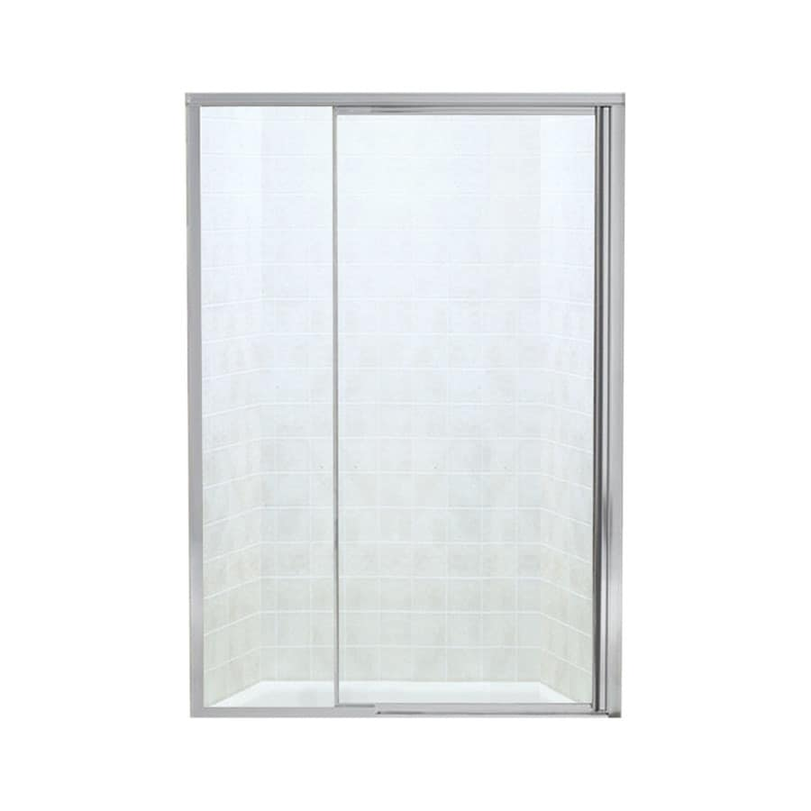 Sterling Vista Pivot II 42-in to 48-in Silver Pivot Shower Door