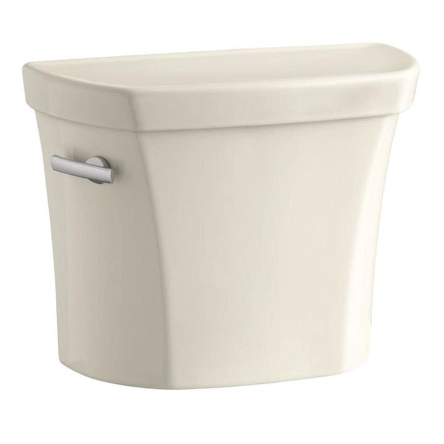 KOHLER Wellworth Almond 1.28-GPF Single-Flush High-Efficiency Toilet Tank