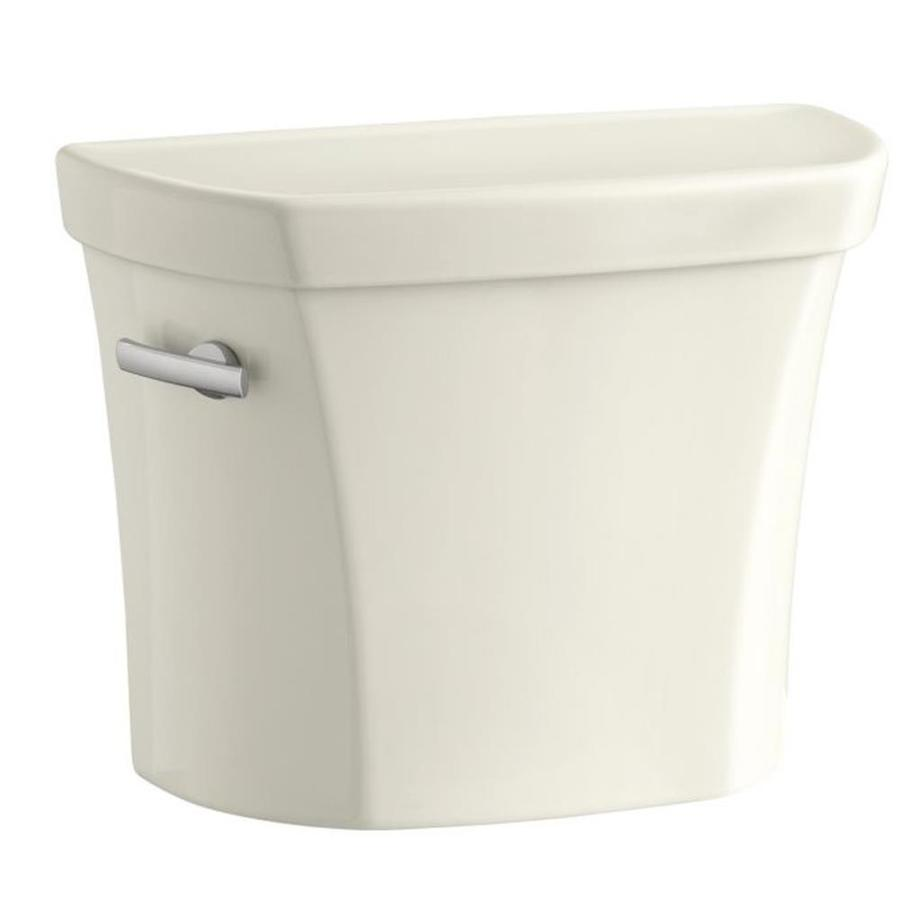 KOHLER Wellworth Biscuit 1.28-GPF (4.85-LPF) 12-in Rough-in Single-Flush High-Efficiency Toilet Tank