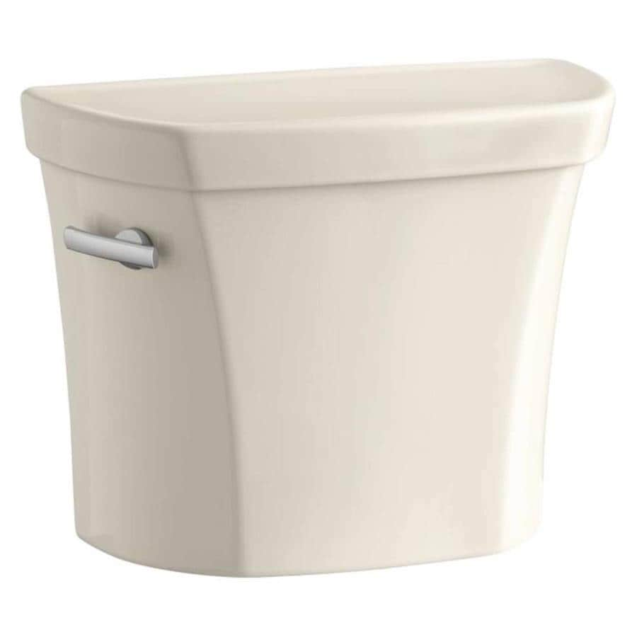 KOHLER Wellworth Almond 1.28-GPF (4.85-LPF) 12 Rough-In Single-Flush High-Efficiency Toilet Tank