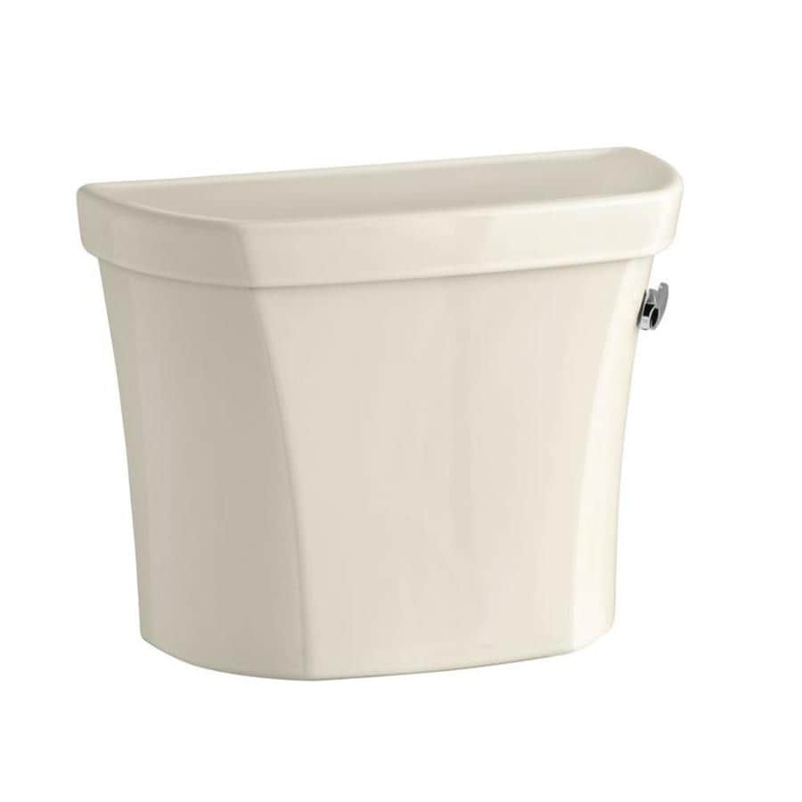 KOHLER Wellworth Almond 1.28-GPF (4.85-LPF) 12-in Rough-in Single-Flush High-Efficiency Toilet Tank