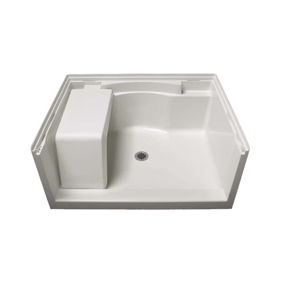 Sterling Accord White Vikrell Shower Base (Common: 36-in W x 48-in L; Actual: 36-in W x 48-in L)