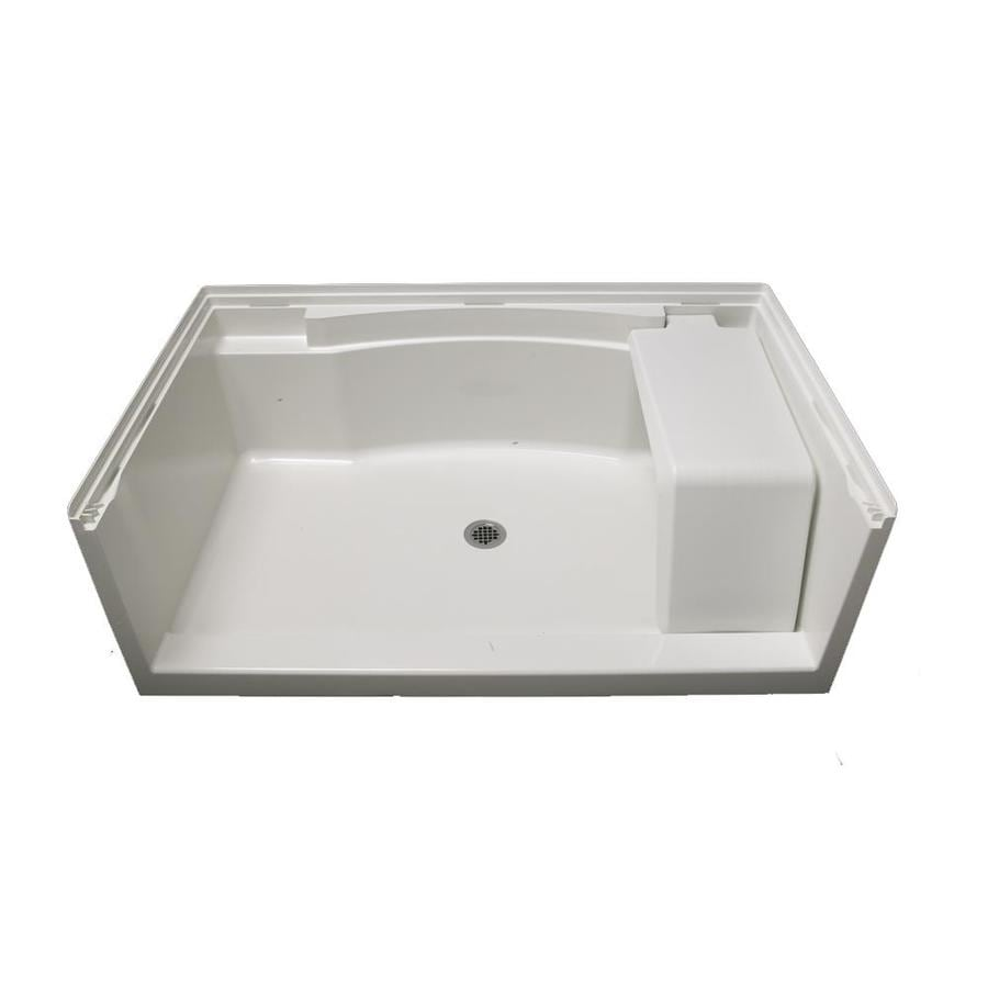 Sterling Accord White Vikrell Shower Base (Common: 36-in W x 60-in L; Actual: 36-in W x 60-in L)