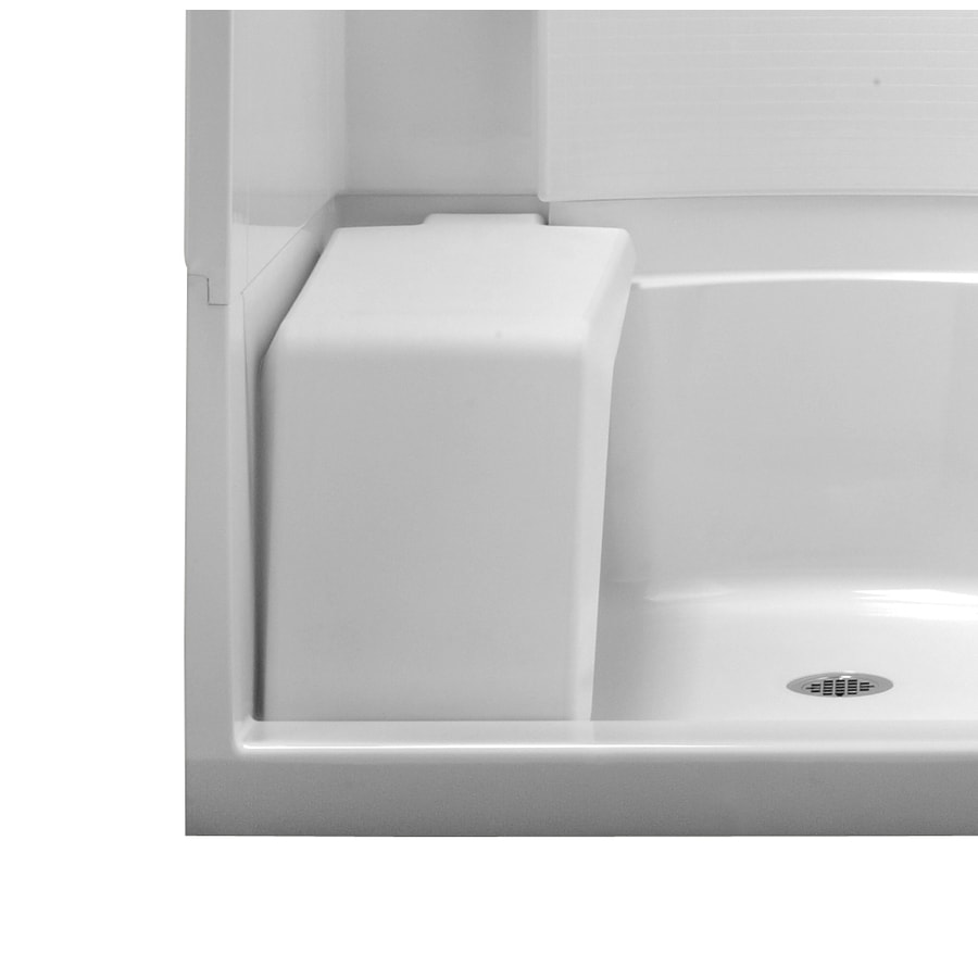 Sterling White Plastic Freestanding Shower Seat
