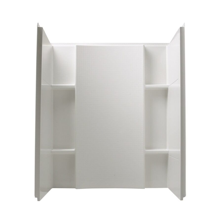 Shop Sterling Accord White Shower Wall Surround Side and Back Panels ...