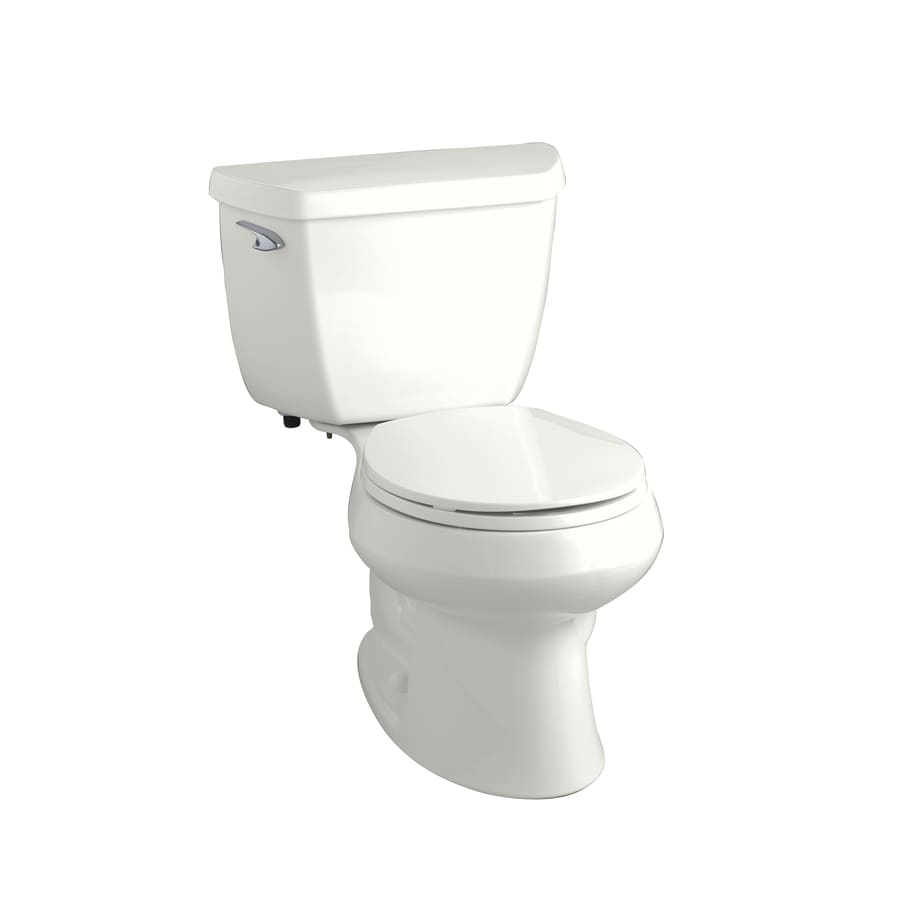 KOHLER Wellworth Classic White 1.28 GPF WaterSense Round 2-Piece Toilet