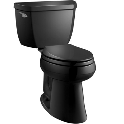 Pleasant Highline Black Black Watersense Elongated Chair Height 2 Piece Toilet 10 In Rough In Size Pabps2019 Chair Design Images Pabps2019Com