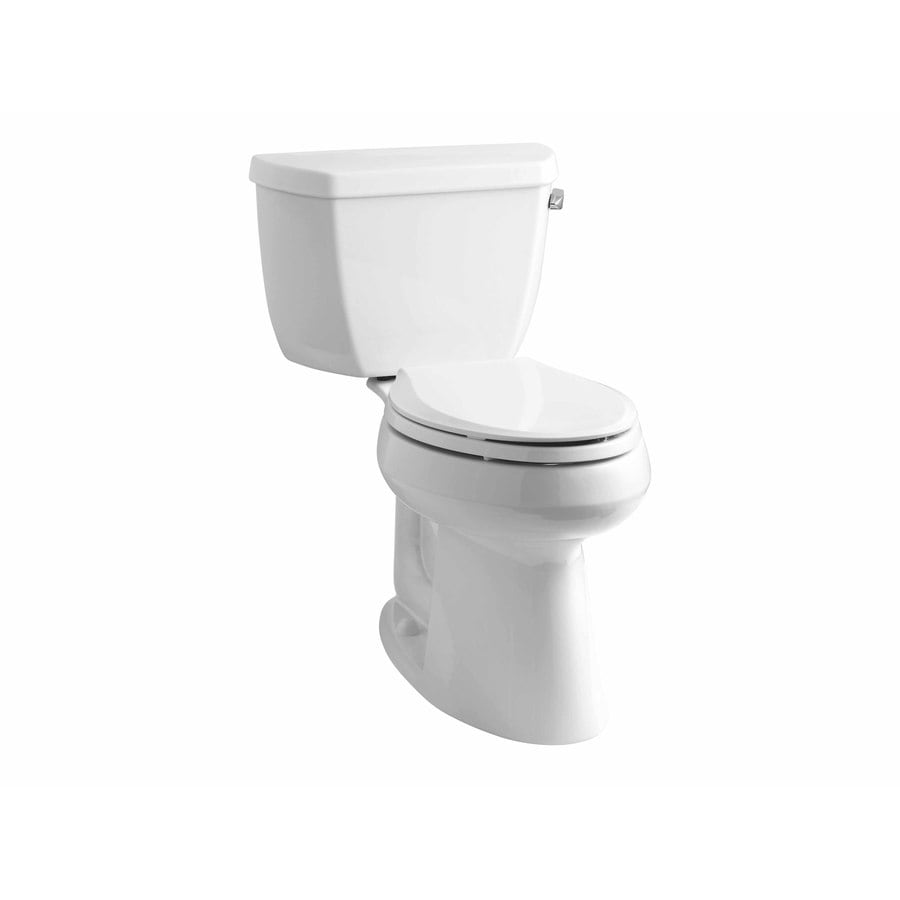 KOHLER Highline White WaterSense Labeled  Elongated Chair Height 2-piece Toilet 10-in Rough-In Size