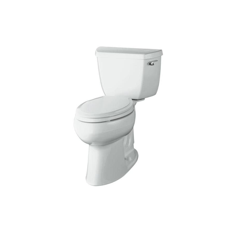 KOHLER Highline Black Black 1.28-GPF (4.85-LPF) 10-in Rough-In WaterSense Elongated 2-Piece Comfort Height Toilet