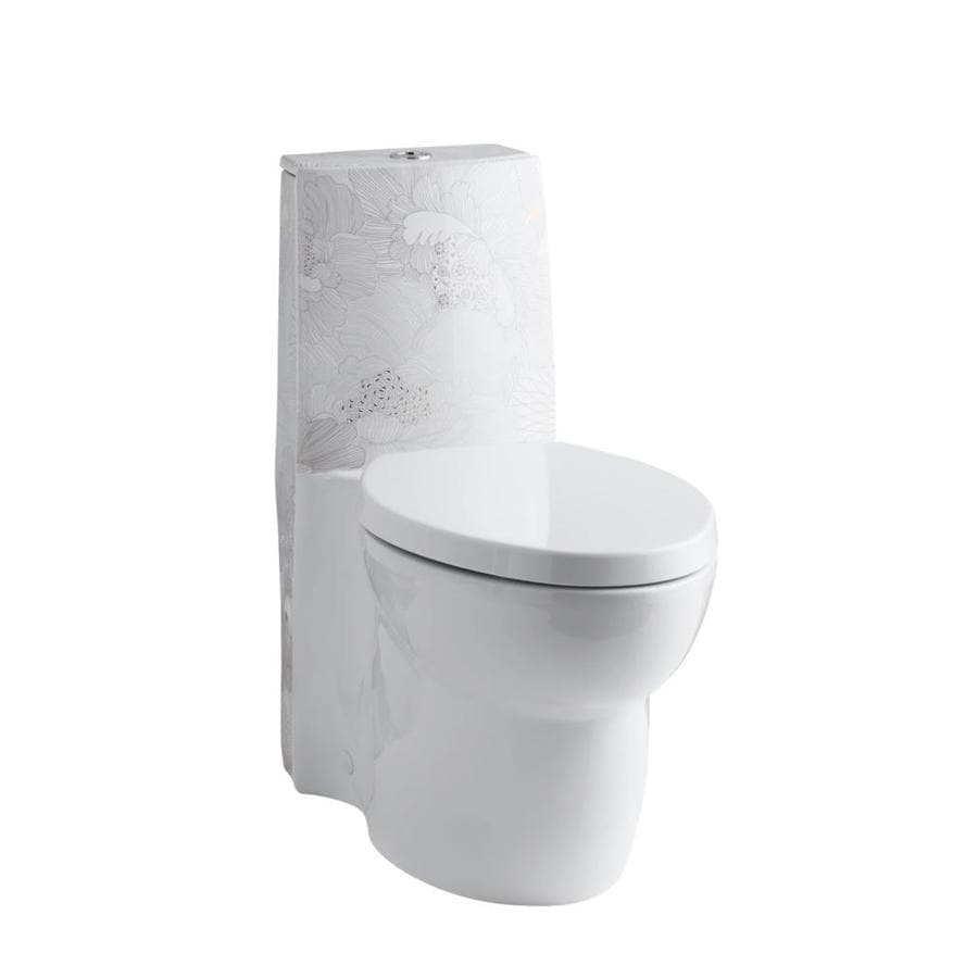 KOHLER Empress White WaterSense Labeled Dual Elongated Chair Height 1-piece Toilet 12-in Rough-In Size